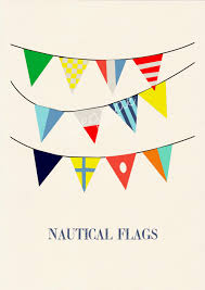 Nautical Code Flags Nautical Code Flags 3 Vintage Yachting Print Pennants Free