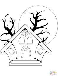 haunted house clipart realistic pencil and in color haunted