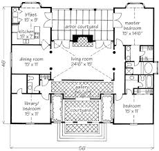 courtyard plans classic villa courtyard david sulivan southern living house plans