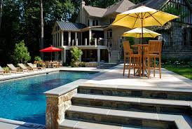 Luxury Backyard Designs Luxury Backyard In Ashton Maryland Pool Patio U0026 Screened Porch
