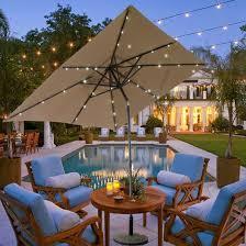 patio umbrella with solar led lights casun garden 7x9 ft rectangular outdoor patio umbrella with solar