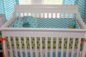 Turquoise Chevron Bedding Soft But Cool Turquoise Baby Bedding All Modern Home Designs