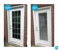 Enclosed Window Blinds Storm Door U0026 Door Glass Installation Cleveland U0026 Akron Zabitat