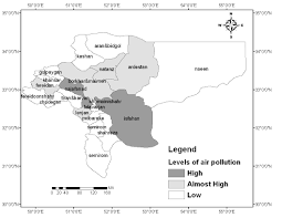 Isfahan On World Map by Air Pollution And Death Due To Cardiovascular Diseases Case Study