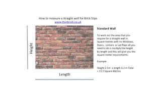 how to measure a wall for thin brick slips youtube