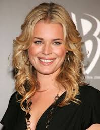 mid length blonde hairstyles sexy mid length blonde wavy hairstyle for women rebecca romijn s