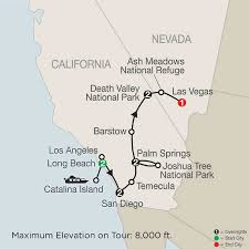 Las Vegas Walking Map by America National Park Vacation Packages U0026 Tours Globus