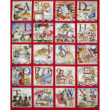 hungry animal alphabet 36 panel discount designer fabric