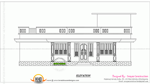 small house elevation with 3d rendering and 2d drawing kerala 2d drawing