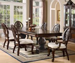 7pc formal dining table chairs set with claw design