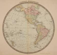 Northern Hemisphere Map Antique Maps Of The Western Hemisphere