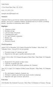 Nursing Resume Example by Cool Telemetry Nurse Resume Sample 52 For Your Skills For Resume