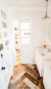 Bathroom With Wood Tile - a real wood look without the wood worry wood plank tiles make the
