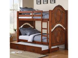 Cherry Bunk Bed Classique Cherry Bunk Bed With Trundle Canales Furniture