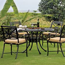 Cast Iron Patio Dining Set - round dining table hedges collection cast iron look