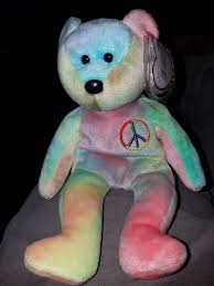 1996 ty beanie baby peace mwmt 4th gen tag errors pvc style 4053