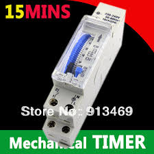24 hr timer light switch 15 minutes 24 hours mechanical timer switch 230vac analogue time