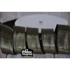 black grosgrain ribbon 5 yards 7 8 black gold metallic barrel stripe grosgrain ribbon
