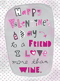 valentines day cards for friends wine friends card s day greeting card justwink cards