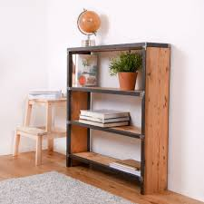 Reclaimed Wood Bookshelf Creative Design Metal And Wood Bookcase For Your Room Decor Home