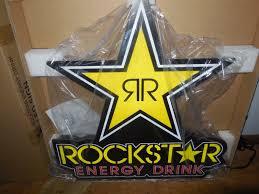 l k rockstar energy drink led light up advertising sign game