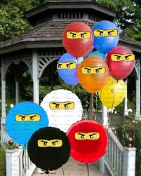 ninjago party supplies ninjago printable balloon stickers diy piy birthday party