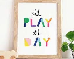 Etsy Nursery Decor Sensational Ideas Playroom Wall Or Etsy Let S Play Nursery