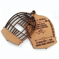 wedding invitations durban birdcage wedding invitations laser link