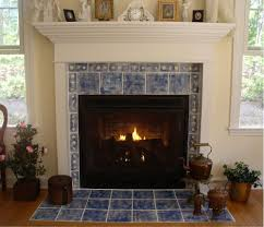 dark brown marble surounding fireplace and white painted cement