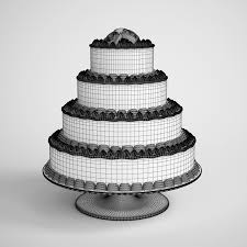wedding cake model tiered wedding cake cgaxis 3d models store