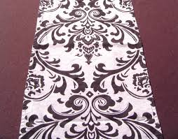 Damask Runner Rug Events With Design Table Cloth Gallery Brown And Cream Damask