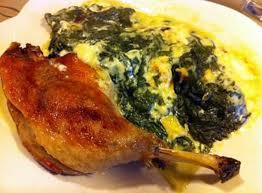 cuisiner cuisse de canard recette de cuisse de canard et gratin d épinards à la noix de
