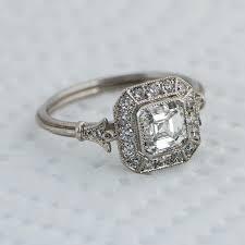 diamond antique engagement rings carat art deco diamond engagement