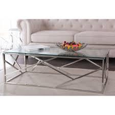 aero chrome glass coffee table modern furniture u2022 brickell