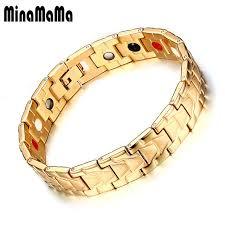 magnetic bracelet with germanium images Healing magnetic bracelet men 316l stainless steel health care jpg