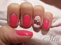hello kitty ear and bow nail art gallery
