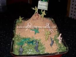 coolest homemade army scene cakes