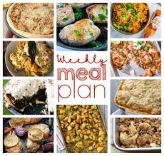 Dinner For The Week Ideas Weekly Meal Plan Week 33 Wishes And Dishes