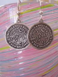 new orleans water meter garcie watermeter earrings large plum new orleans