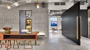 Concrete Reception Desk Wme Img Office Rockwell Group