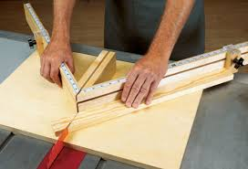 miter cuts on table saw free tablesaw miter sled woodworking plan
