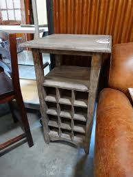 Wood Wine Cabinet Gray Wood Wine Rack This Rustic Bar Features An Open Shelf And 12