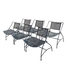 Vintage Woodard Wrought Iron Patio Furniture by Midcentury Retro Style Modern Architectural Vintage Furniture From