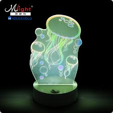3d night light types lamp creative decoration led light happy