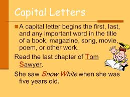 capitalization and punctuation ppt video online download