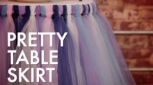 Make A Picnic Table Cover by How To Make A No Sew Tutu Table Skirt Hgtv Youtube