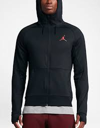 nwt jordan 360 fleece hoodie mens 808690 010 black infrared therma