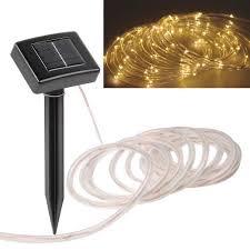 Solar Powered Christmas Tree Lights by Aliexpress Com Buy 23ft 50led Solar Power Tube Light Strip