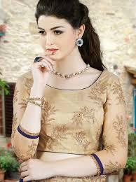 golden blouse sarees with golden blouse buy royal blue silk indian saree