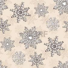 hand drawn winter sketch snowflakes seamless pattern backdrop